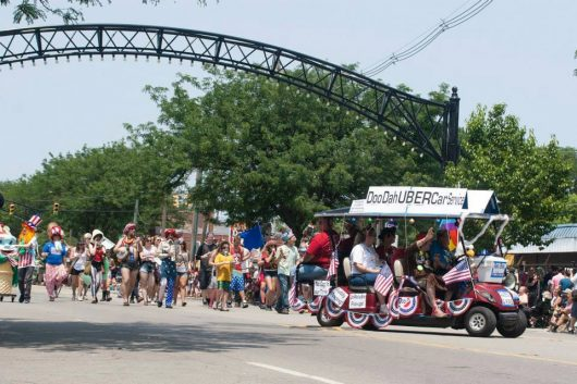 The 2015 Doo Dah Parade proceeds down High Street. Credit: Courtesy of Doo Dah Parade