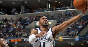 The Memphis Grizzlies' Mike Conley (11) and former Buckeye re-signed with the Memphis Grizzlies for a five-year, $153 million deal. Credit: Courtesy of TNS