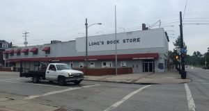 The building which previously hosted Long's Bookstore is set to be demolished next week.