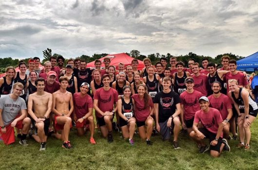 The Ohio State Running Club competes at the Otterbein Cross Country Invitational on Sept. 17. Credit: Courtesy of Ohio State Running Club