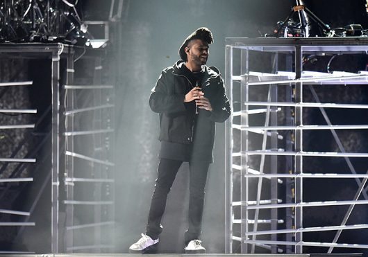 The Weeknd on stage during the 2016 Brit Awards at the O2 Arena in London on Feb. 24. Credit: Courtesy of TNS