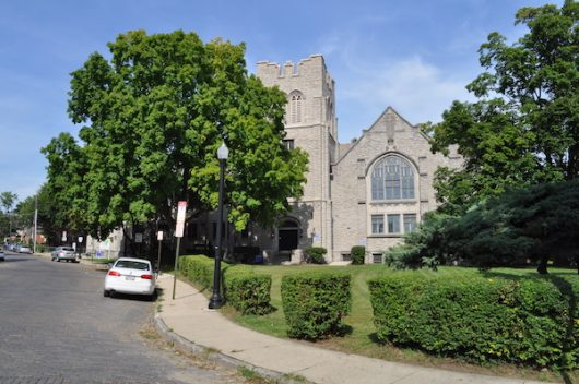 Indianola Presbyterian Church, which sits on Waldeck Avenue, was established in 1916. Credit: Nick Roll | Campus Editor