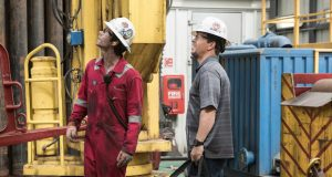 "Mark Wahlberg and Dylan O'Brien in ""Deepwater Horizon."" Credit: Courtesy of TNS"
