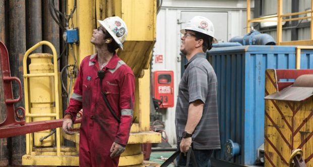 """Mark Wahlberg and Dylan O'Brien in """"Deepwater Horizon."""" Credit: Courtesy of TNS"""