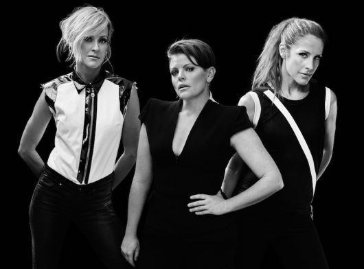 Martie Maguire, Natalie Maines and Emily Robison of Dixie Chicks. Credit: Courtesy of TNS