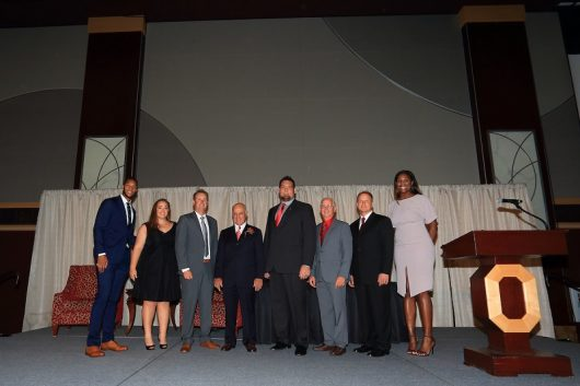 Members of the Ohio State Hall of Fame class of 2016 were inducted on Friday, Sept. 9 at the Ohio Union. Credit: OSU Athletics.