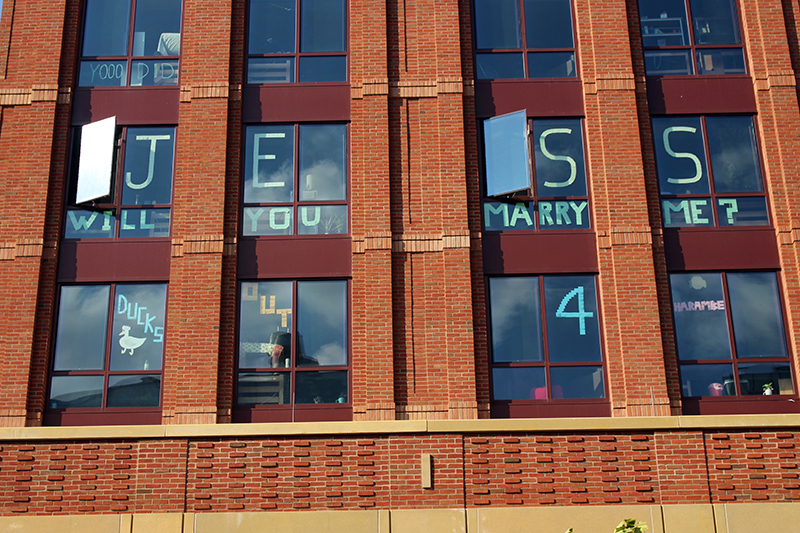 Window Plain Ohio State Changes Policy Says No More Dorm Room Window Art