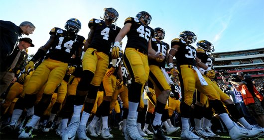 Jan. 01, 2016 - Pasadena, California, U.S. - Iowa enters the field prior to the 102nd Rose Bowl game against Stanford. (Credit Image: © Keith Birmingham/San Gabriel Valley Tribune via ZUMA Wire)