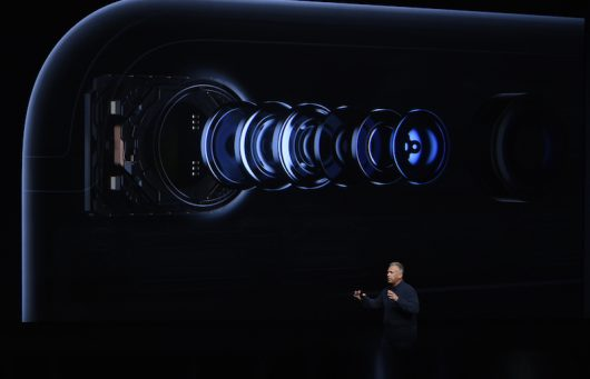 Phil Schiller, Apple senior vice president of worldwide marketing, talks about the waterproof iPhone 7 at the Bill Graham Civic Auditorium in San Francisco. Credit: Courtesy of TNS.