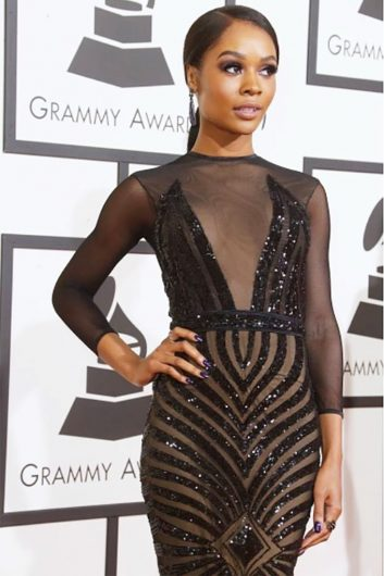 Zuri Hall at the Grammy Awards in 2016. Hall is an Ohio State Alumni. Credit: Courtesy of Zuri Hall