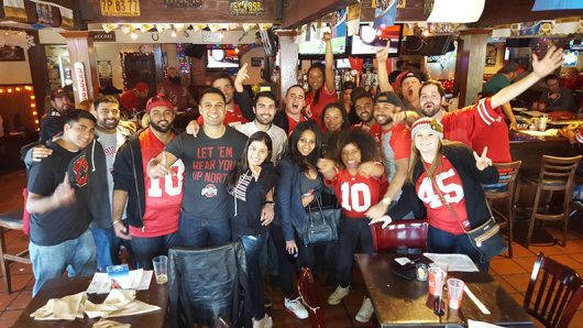 An alumni club in Los Angeles gathers to support the Buckeyes. Credit: Courtesy of Ohio State Alumni of Los Angeles