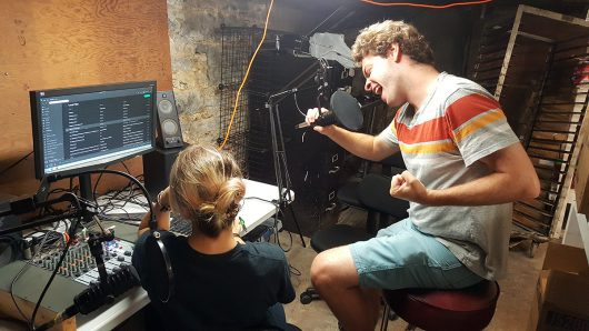 Kelsey Yappel and Bob Craig work in the studio. Credit: Courtesy of Yar Lisheba
