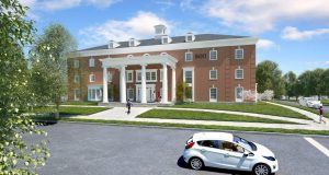 A rendering of the new fraternity house for Beta Theta Pi, from Moody Nolan Architects. Credit: Courtesy of Beta Theta Pi