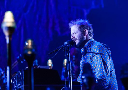Justin Vernon of Bon Iver performs at Wembley Arena in London, England. Credit: Courtesy of TNS