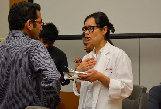 "At an ice cream social on Sept. 20, postdoctoral scholars celebrated National Postdoctoral Appreciation Week. Brenda Reader, organizer of the event, called it ""a chance for postdocs from many different programs on campus to interact, share ideas and just relax."" Credit: Deepti Hossain 