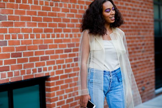 Solange arrives at Creatures of Comfort Spring Summer 2017 show in New York City, on Sept. 8. Credit: Courtesy of TNS