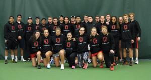 Ohio State club tennis Scarlet Team tournament delayed due to Hurricane Matthew. Credit: OSU club tennis