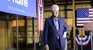 bill clinton campaigns for hillary clinton at the delaware county fairgrounds, october 14. Credit: Stewart Blake | For The Lantern