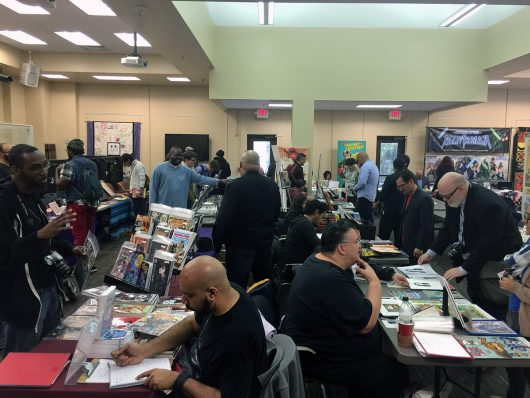 Artists talk with fans at the 2015 SÕL-CON. Credit: Frederick Aldama