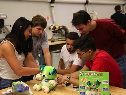 The Toy Adaption Program at Ohio State is a group of engineering students working to modify toys for children with mental disabilities. Credit: Courtesy of Rachel Kajfez | Assistant Professor with the Department of Engineering Education
