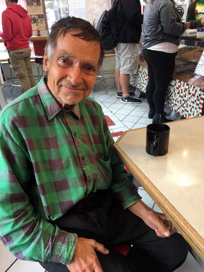 Jon Stefanek has been going to Buckeye Donuts daily since 1969. Credit: Olivia Balcerzak | For the Lantern