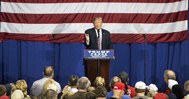 Donald Trump tells Ohio crowd he will accept election results, if he wins