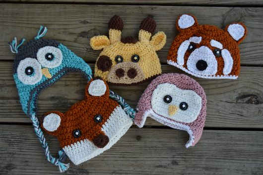 Lauren McClure, an OSU zoology student, makes and sells crochet hats on Etsy. Credit: Courtesy of Lauren McClure