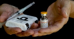 A vial of naloxone and an injector kit of the drug that is used as an antidote to overdoses. Credit: Courtesy of TNS