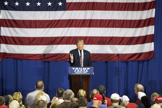 Donald Trump speaks after the final Presidential debate in Delaware, Ohio on Oct. 20. Credit: Alexa Mavrogianis | Photo Editor