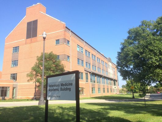 The Ohio State College of Veterinary Medicine plans to use a $39 million grant from the Stanton Foundation to establish a new program of fund a chair position, seven faculty, 12 staff members, a new lab and a mobile veterinary unit. Credit: Nick Roll   Campus Editor
