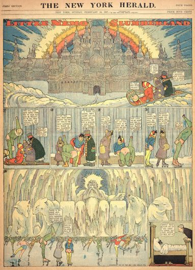 """""""Little Nemo in Slumberland"""" was a cartoon strip in the early 1900's by artist Winsor McCay. Credit: Courtesy of the Billy Ireland Cartoon Library & Museum"""