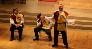 Students perform in the 2014 Madrigal Dinner Theater show. Credit: Courtesy of Kiya Fix