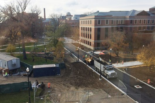 The construction on West 18th Avenue will not be completed on time. Credit: Patrick Wiley | Lantern Reporter
