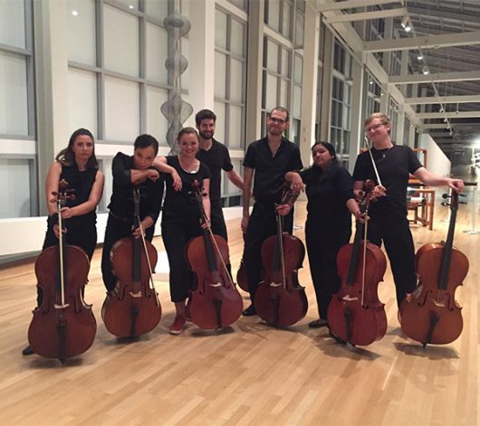 Members of CellOhio perform at the Wexner Center for the Arts student party. Credit: Courtesy of Destiny Lee