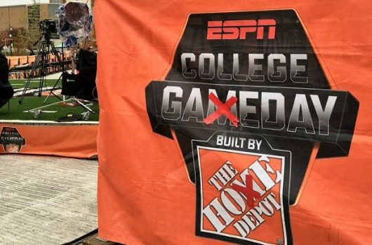 ESPN College GameDay will make its 15th appearance at Ohio State on Saturday for No. 2 OSU vs. No. 3 Michigan. Credit: Courtesy of @CollegeGameDay