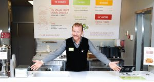 Columbus, OH - NOVEMBER 19:  Filmmaker Morgan Spurlock attends the grand opening of his new restaurant Holy Chicken on November 19, 2016 in Columbus, Ohio.  (Photo by Jeff Vespa/WireImage)