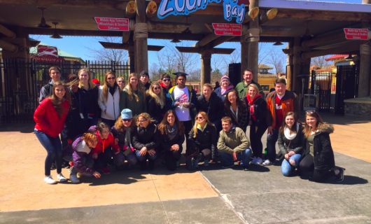 Ohio State's chapter of Best Buddies takes a trip to Zoombezi Bay water park. Credit: Courtesy of
