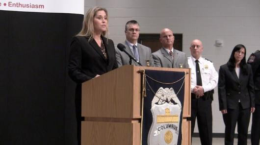 FBI special agent Angela Byer speaks to the media at a news conference on the investigation of Abdul Razak Ali Artan on Nov. 30. Credit: Elizabeth Suarez   Multimedia Editor