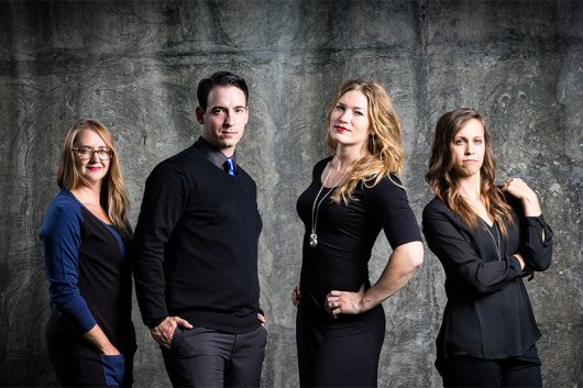 The Team at UA Creative Photography from left to right; Erica Kay, Ua Chamberlain, Caitlin Elsass Sadler and Katie Hurier. Credit: Courtesy of Ua Chamberlain