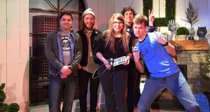 The in the record store hosts meet with local artist Mary Lynn and her backing band. Credit: Courtesy of Vince Tornero.
