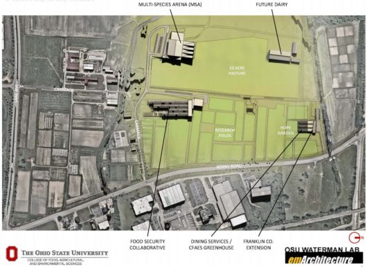 A visual representation of the proposed additions to West Campus. Credit: Ohio State Board of Trustees
