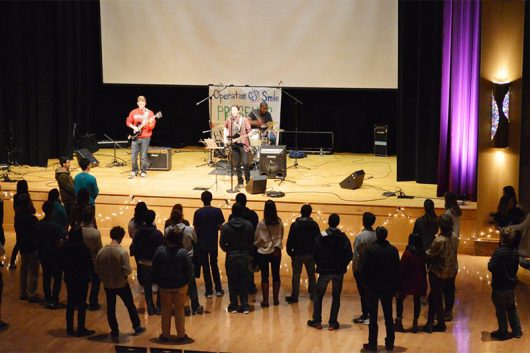 A local band performs at last year's Battle of the Bands in the Ohio Union. Credit: Courtesy of Gabby Taphorn