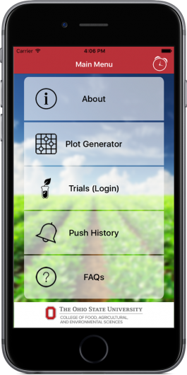 The OSU PLOTS application was designed to help improve farmer's operations management while reducing fertilizer runoff which causes algae blooms in lakes. Credit: Courtesy of Ohio State