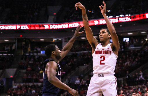 Men's basketball: Ohio State pulls out 67-66 victory off Marc Loving's last second shot