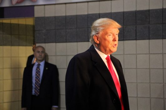 President-elect Donald Trump addresses the media at The Schottenstein Center on Dec. 8. Credit: Nick Roll | Campus Editor