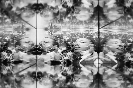 "An image from ""Oppression,"" the film played inside Jordan Reynolds' ""Reflection."" Credit: Courtesy of Jordan Reynolds"