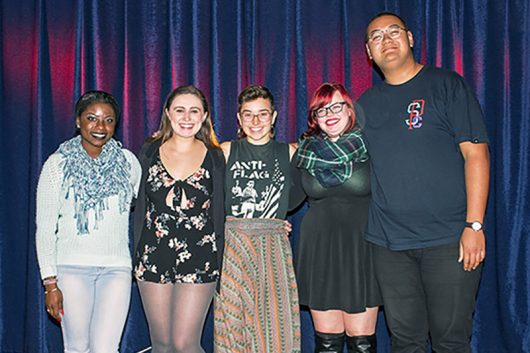 The 2017 CUPSI team from left to right; Leonna Bell, Anna Wiese, Anna Voelker, Christina Szuch and Xavier Smith. Credit: Laurie Hamame | Lantern reporter