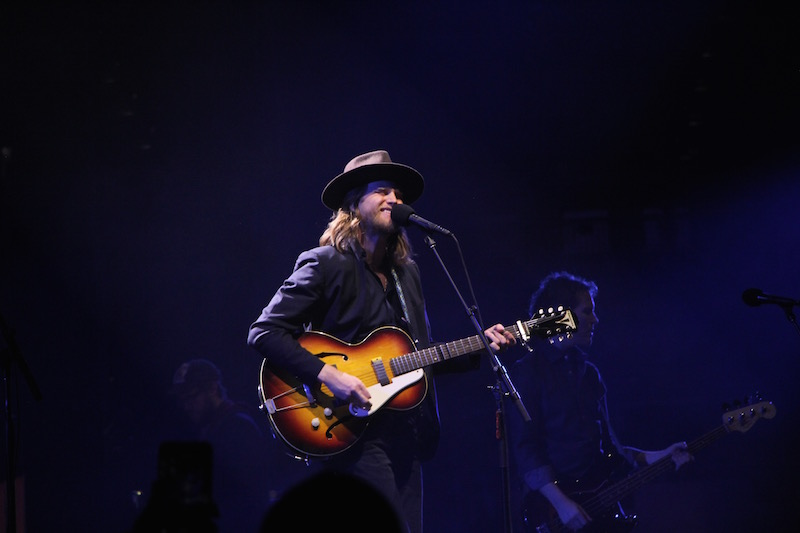 Lead singer of The Lumineers, Wesley Schultz, sings to a crowd at The Schottenstein Center on Jan. 28. Credit: Ashley Nelson | Sports Director