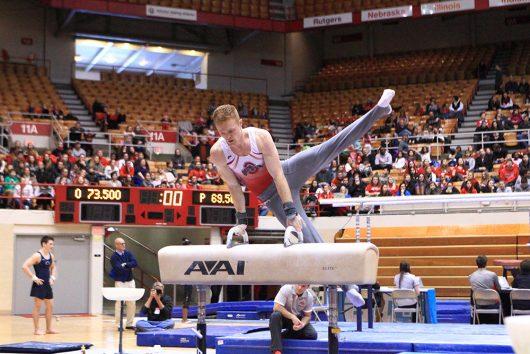 Men's gymnastics: No. 3 Ohio State's upset bid falls short ...