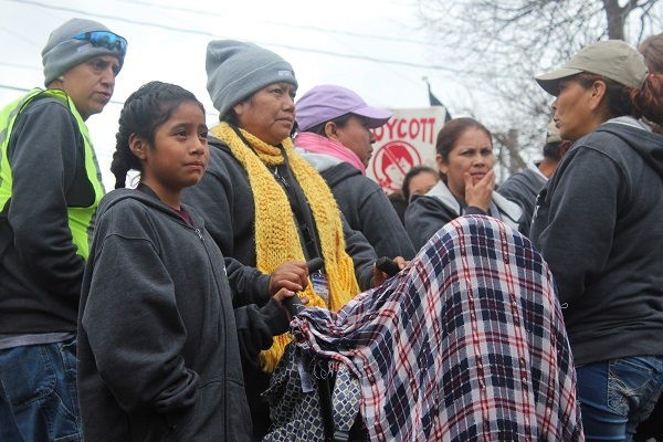 Farmworkers from Immokalee, Florida as well as members of the Coalition of Immokalee Workers came to Columbus to march in protest of Wendy's refusal to join the Fair Food Program. Credit: Mitch Hooper | Engagement Editor